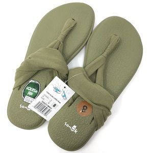 Sanuk Yoga Sling 2 Olive Green Flip Floo NWT SZ 7W